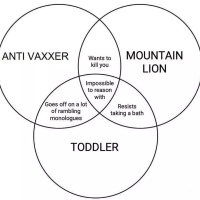 Venn Diagram - Antivaxxer, Toddler, Mountain Lion
